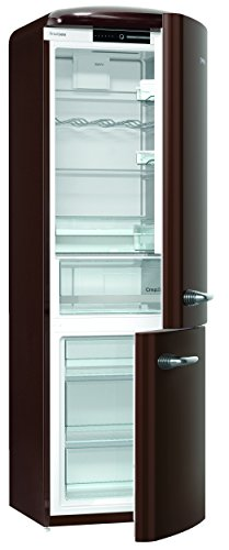 Gorenje ORK 193 CH Kühl-Gefrier-Kombination / A+++ / Höhe 194 cm / Kühlen: 227 L / Gefrieren: 95 L / Dark Chocolate / FrostLess / CrispZone / Oldtimer / Retro Collection