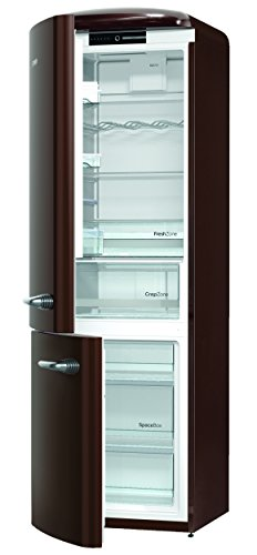 Gorenje ORK 193 CH-L Kühl-Gefrier-Kombination / A+++ / Höhe 194 cm / Kühlen: 227 L / Gefrieren: 95 L / Dark Chocolate / FrostLess / CrispZone / Oldtimer / Retro Collection