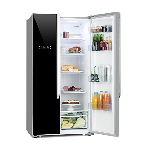 DESIGNED IN GERMANY* Klarstein Grand Host XL / Side by Side Kühl-Gefrier-Schrank / 517 Liter / 336 kWh/Jahr / No Frost / A++ / Doppeltür-Gefrier-Kühl-Kombination / Display Control / schwarz