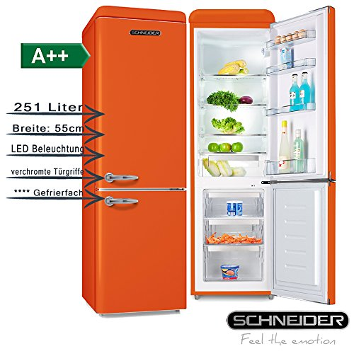 Schneider SL 250O Kühl-/Gefrierkombination, orange