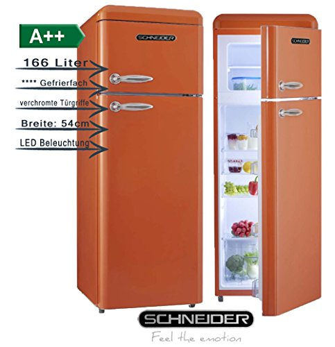 Schneider SL 210O Kühl-/Gefrierkombination, orange